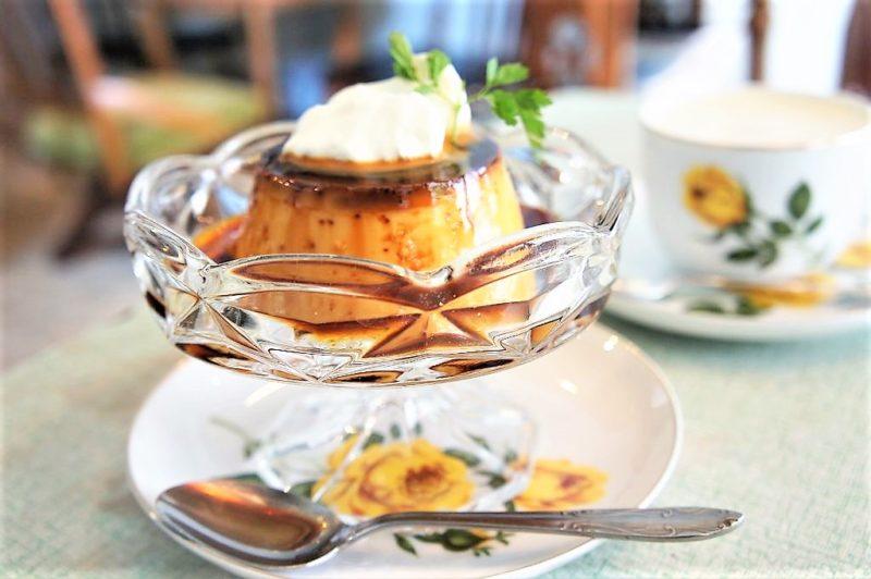 cafe pool(カフェプール)のきび砂糖のプリンとドリンクアップ