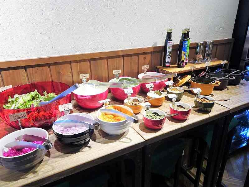 ケイズテーブルのサラダバー