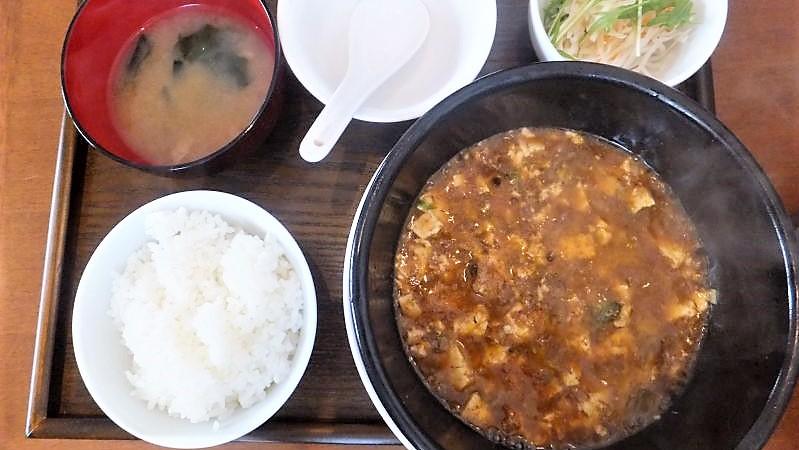 四川風麻婆豆腐セット 980円