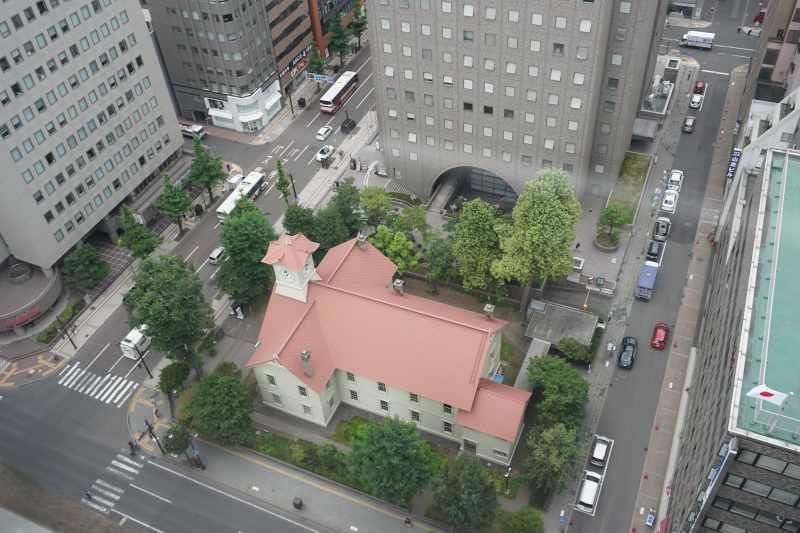 上からみた札幌市時計台