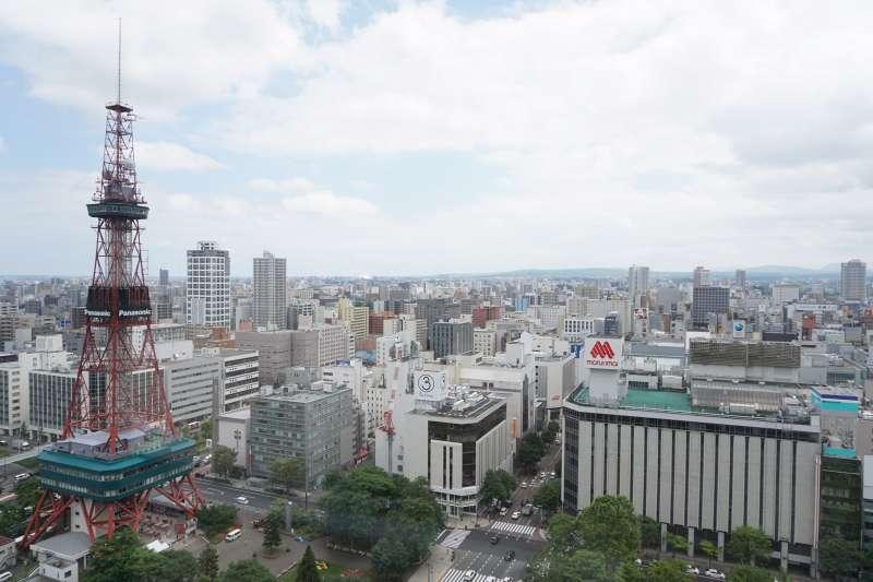 展望回廊からみた札幌の街並み