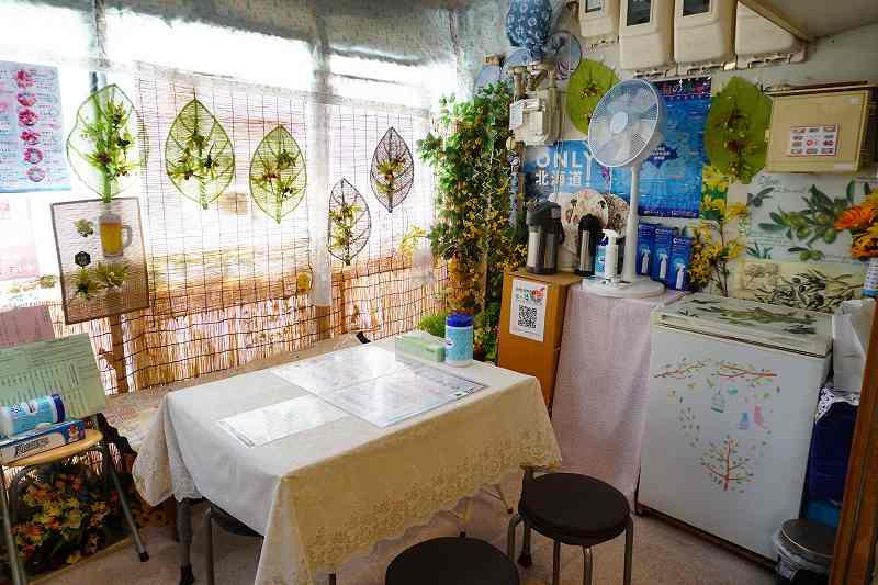 札幌二条市場 第一海鮮丸の店内