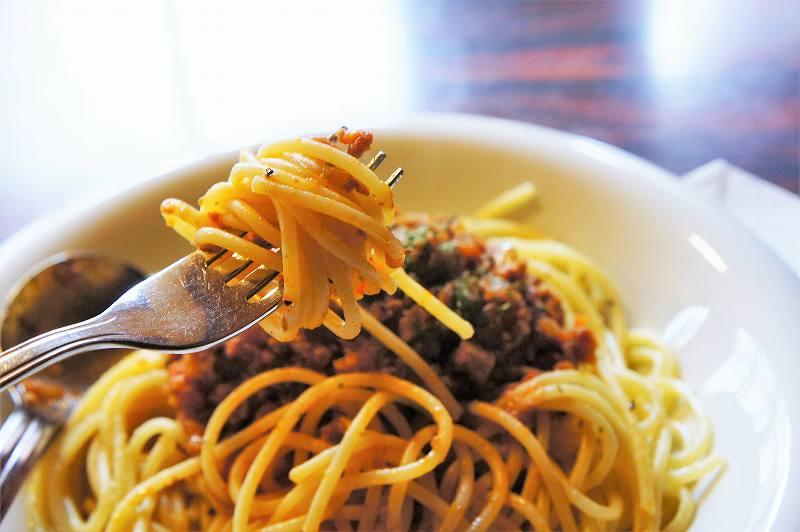 レストランのやの「スパゲティミートソース」