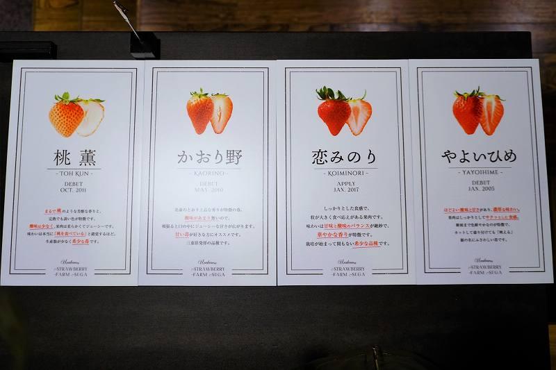 Berry Berry Crazy(ベリーベリークレイジー)のいちごの品種のパネル