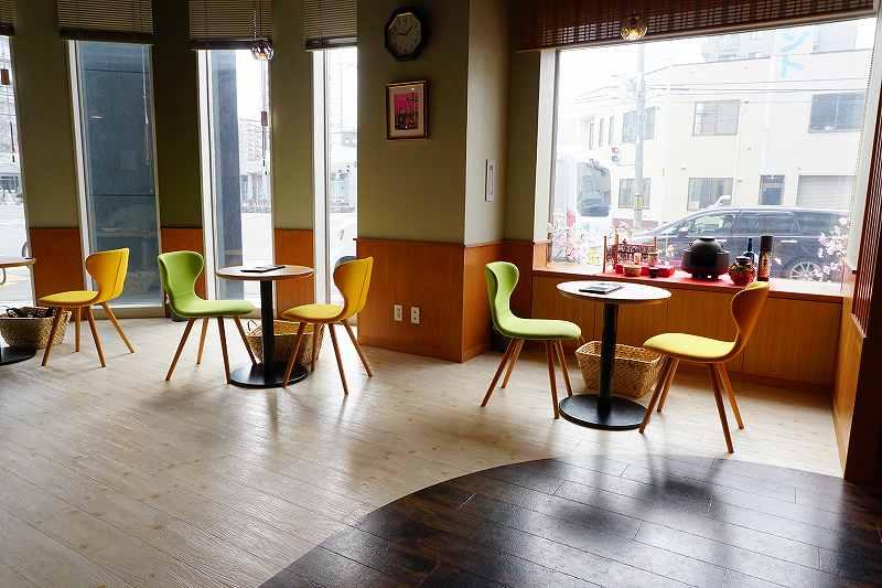 宇治園札幌直営店のカフェスペース