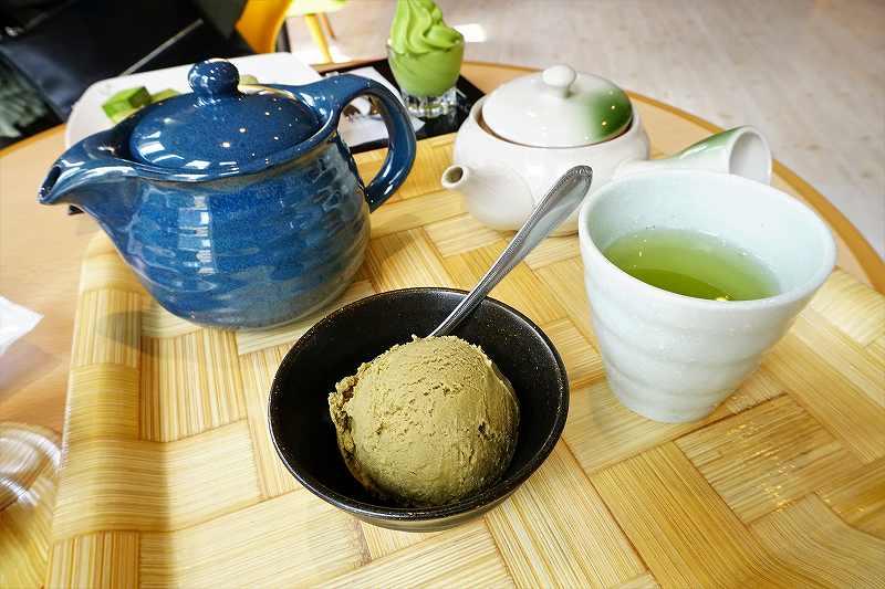 宇治園札幌直営店の緑茶セット