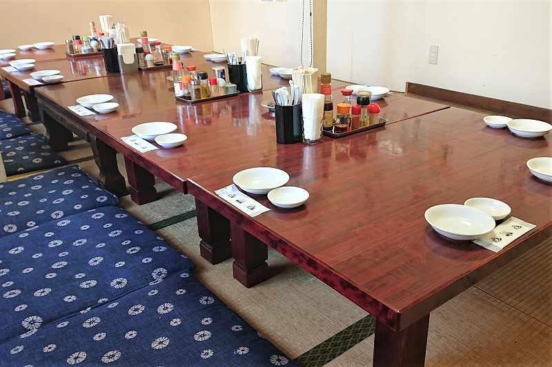 中国料理 布袋 本店の2階 座敷テーブル席
