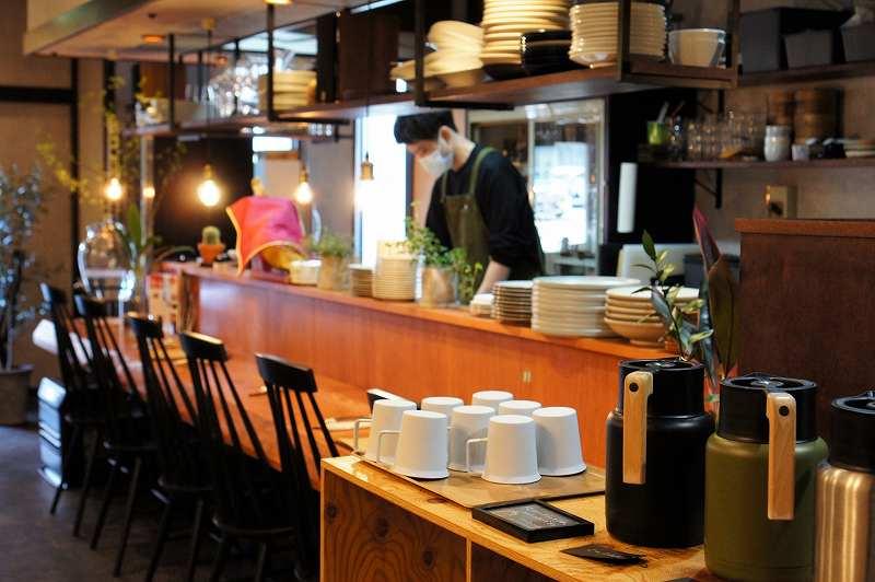 ワイン食堂Yamaのカウンター席
