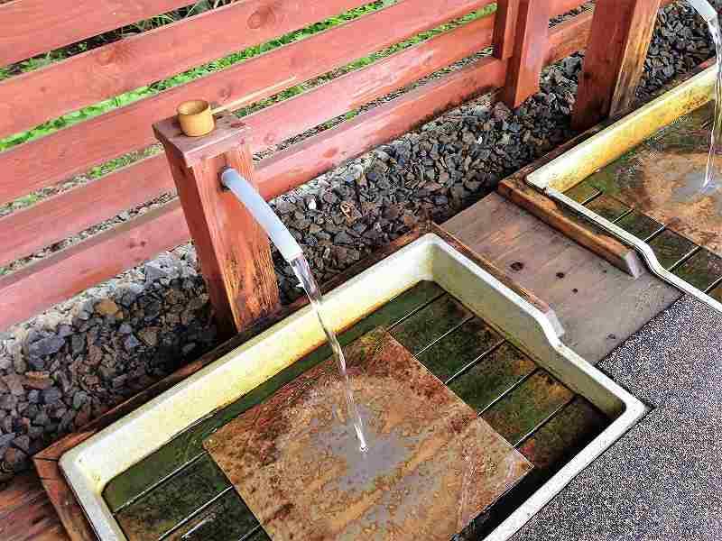 キレイに整備された 有明の名水 取水場