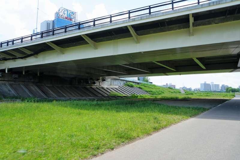 豊平川河川敷のうち、南19条大橋の下