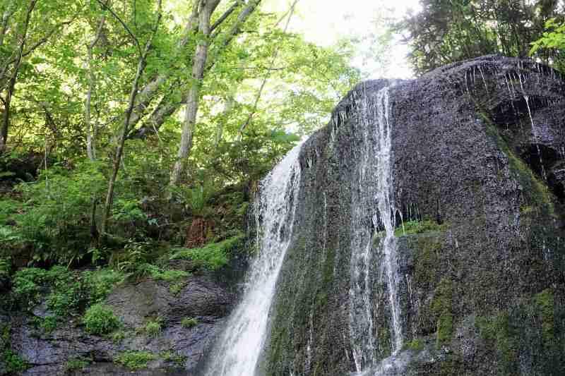 有明の滝 滝の上部