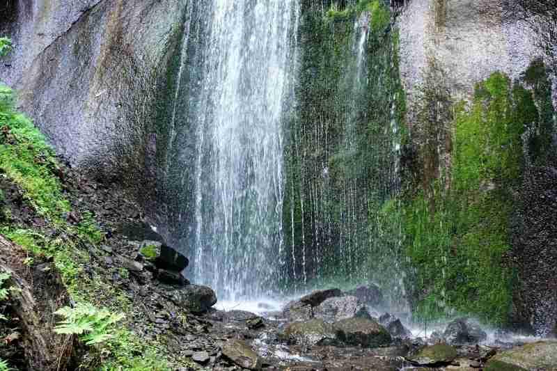 有明の滝 滝の下部
