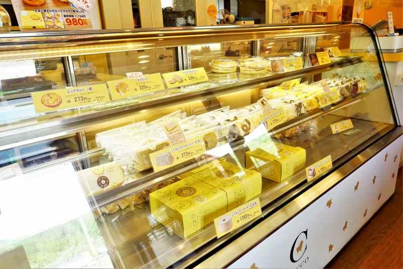 コッコテラス では 卵を使ったお菓子の販売も行われています