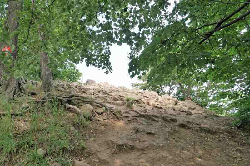 円山山頂の岩場