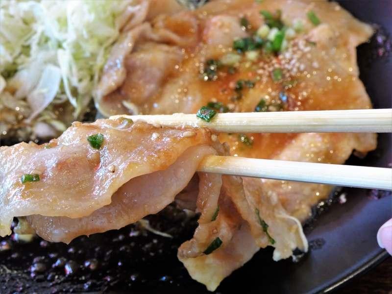 「ひこま豚食堂&精肉店Boodeli」の生姜焼き定食