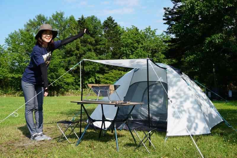 江別森林キャンプ場 に張ったテント