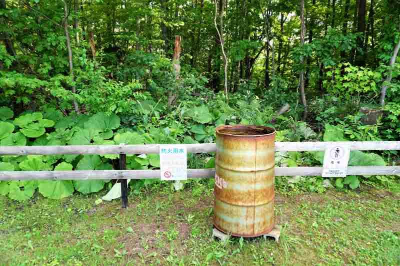江別市森林キャンプ場の防火用貯水