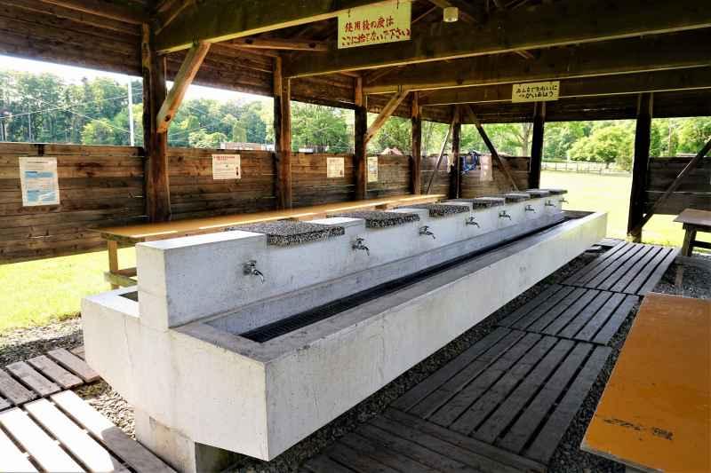 江別市森林キャンプ場の炊事場