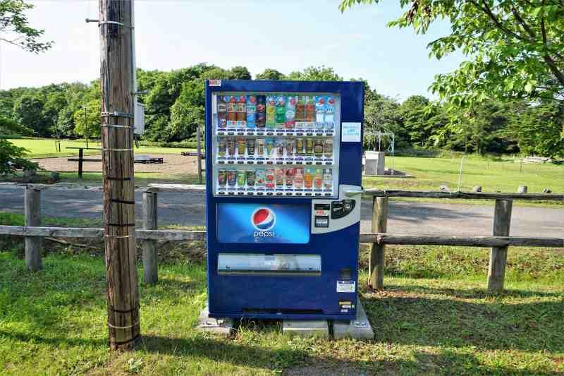 江別市森林キャンプ場の自動販売機