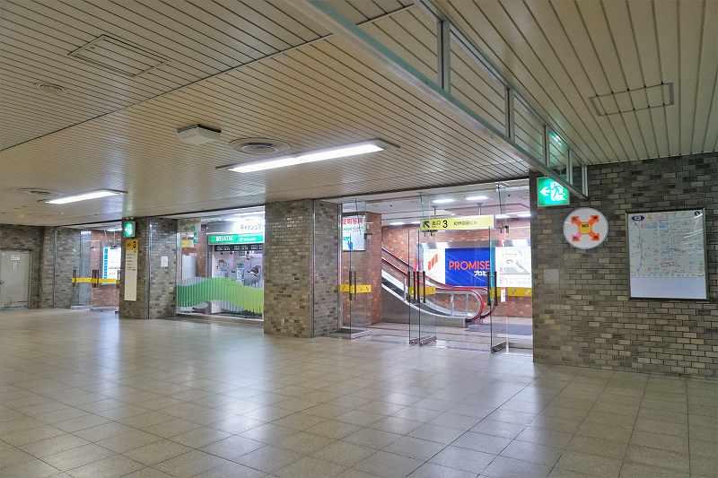 地下鉄「琴似駅」の3番出口付近