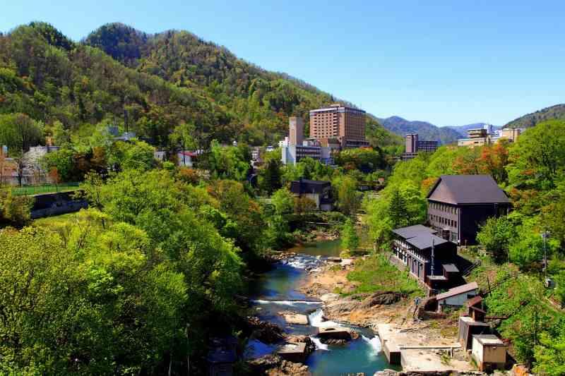 定山渓を流れる豊平川