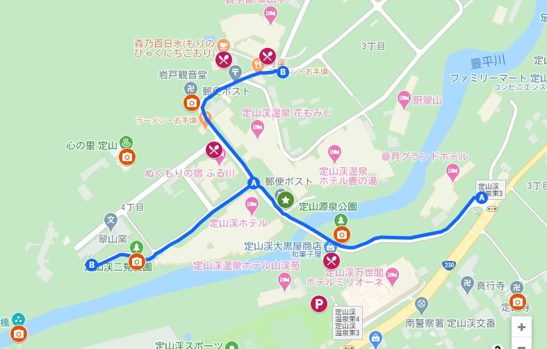 定山渓温泉街マップ