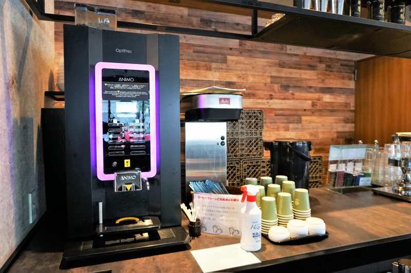 レンブラントスタイル札幌のコーヒーマシン