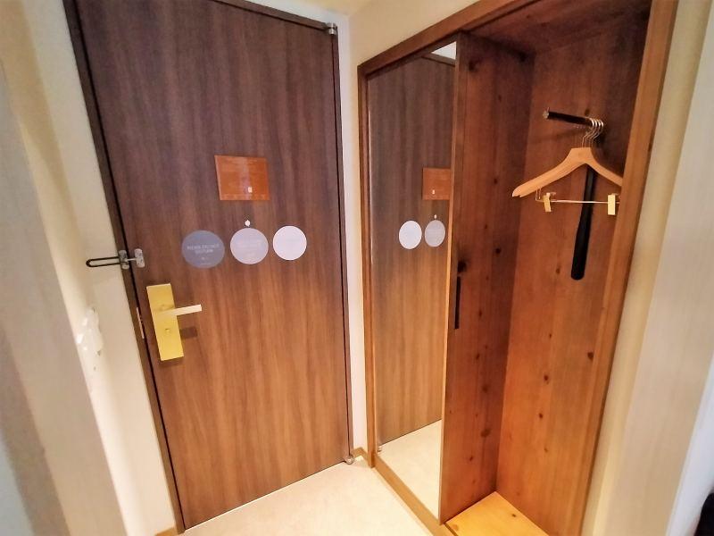 ザノット札幌のスタンダードツインルームの入口
