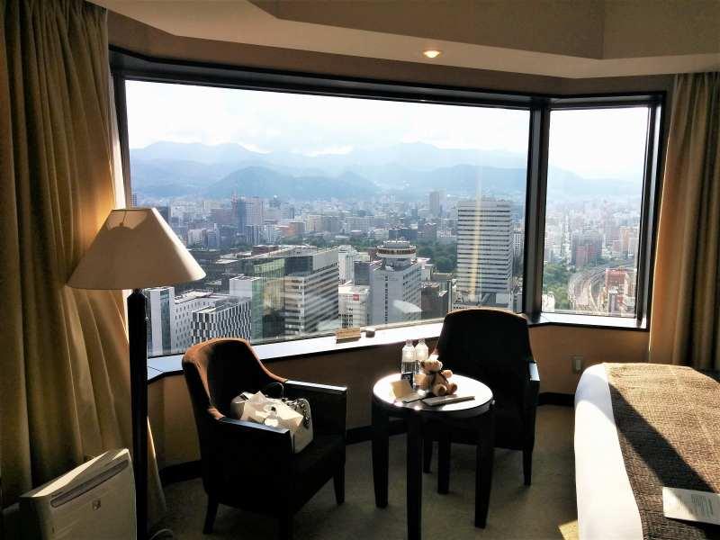 JRタワーホテル日航札幌の窓から見える風景