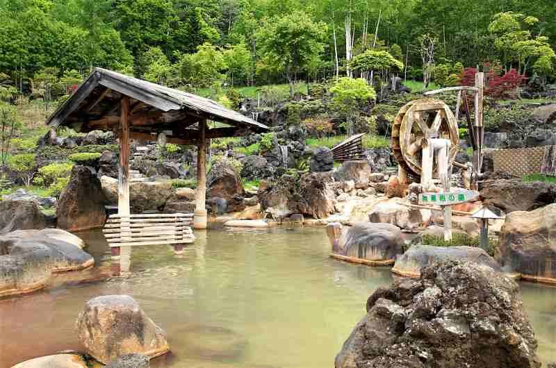豊平峡温泉の露天風呂