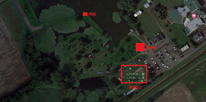 「北村中央公園ふれあい広場」の全体図