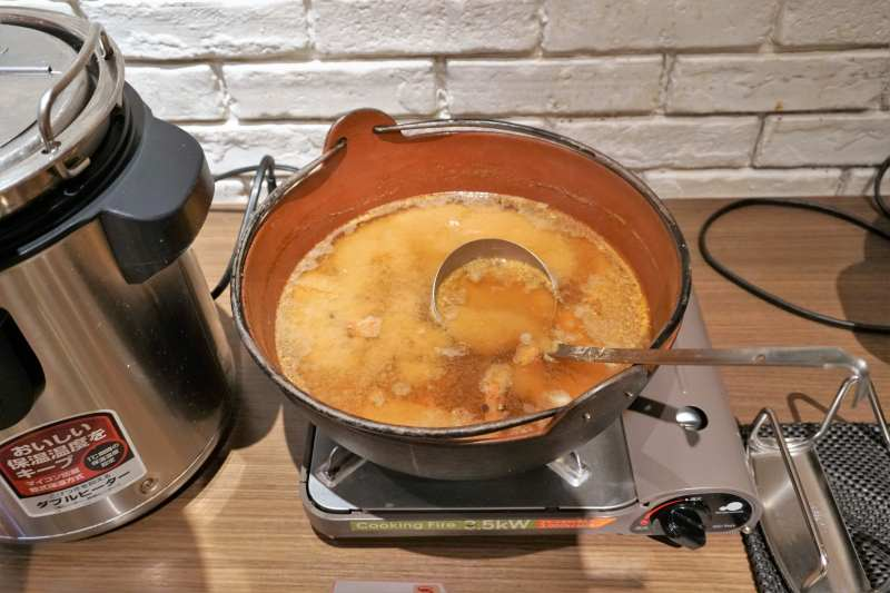 朝食ビュッフェのお味噌汁