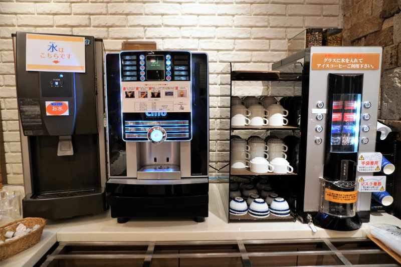 朝食ビュッフェのコーヒー