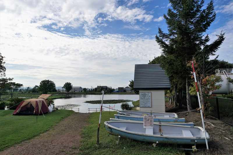 「北村中央公園ふれあい広場」の貸しボート