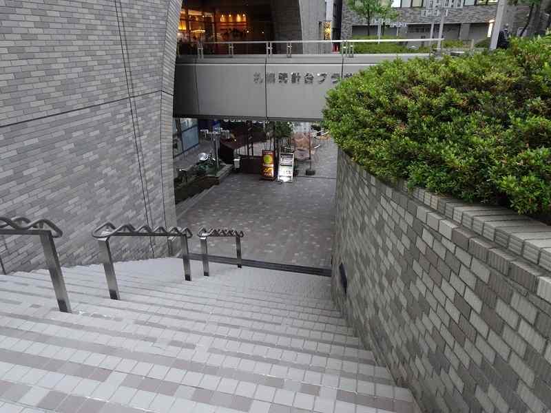 札幌時計台ビルの地下に続く階段