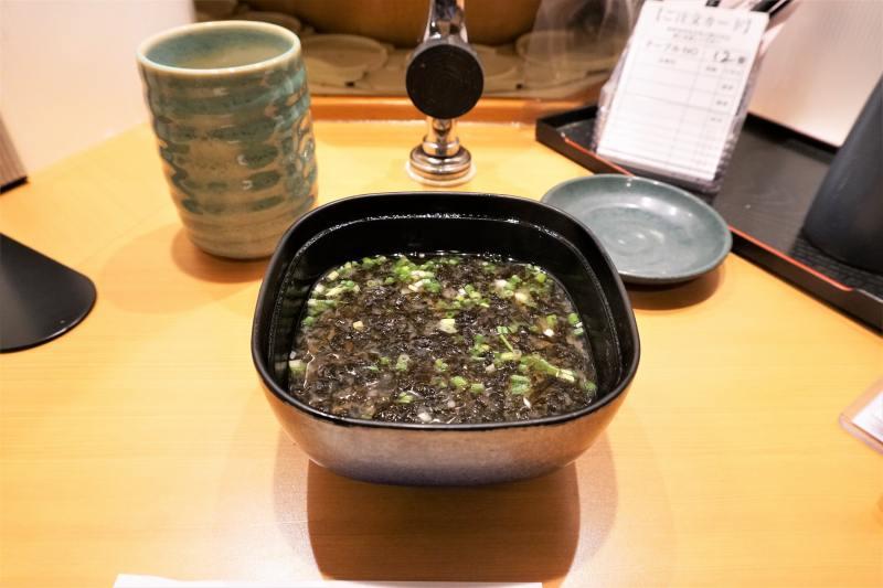 """活一鮮の """"岩のり"""" の味噌汁"""