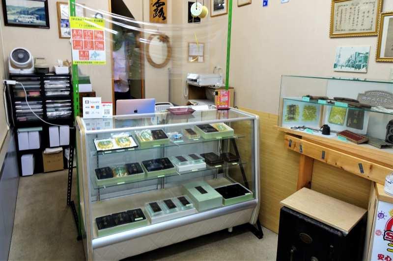 「澤の露本舗」の店内