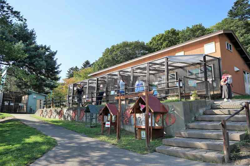 「栗山公園」のなかよし動物園