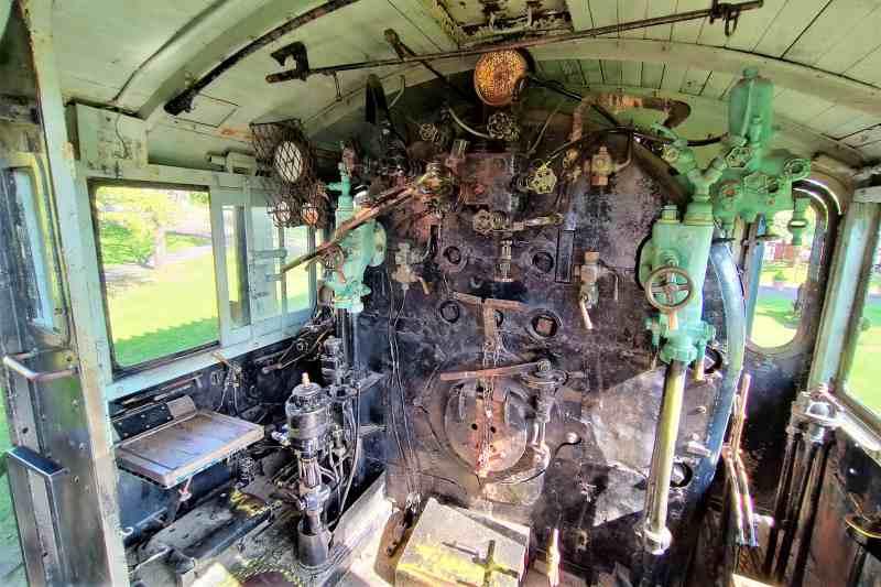 「栗山公園」のSL機関車