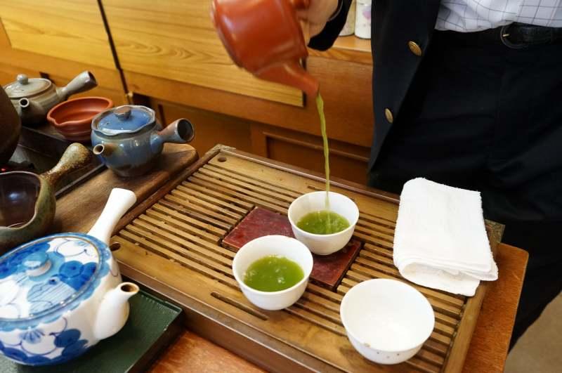 玉翠園の緑茶