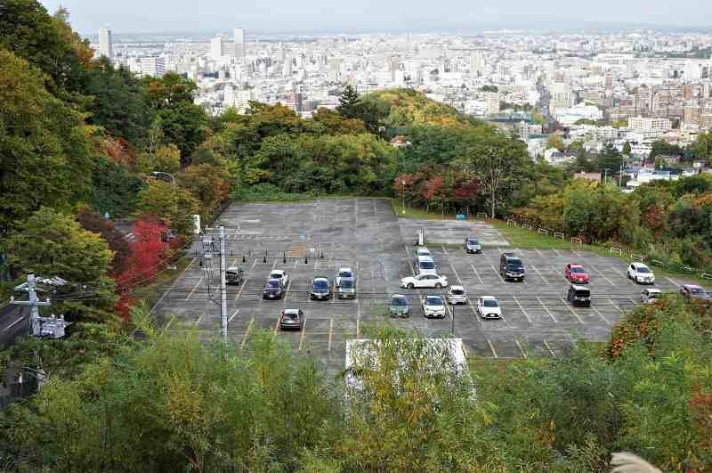 大倉山ジャンプ競技場の駐車場