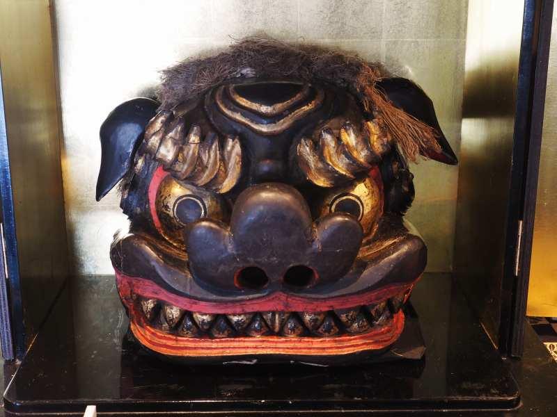 定山寺の獅子頭