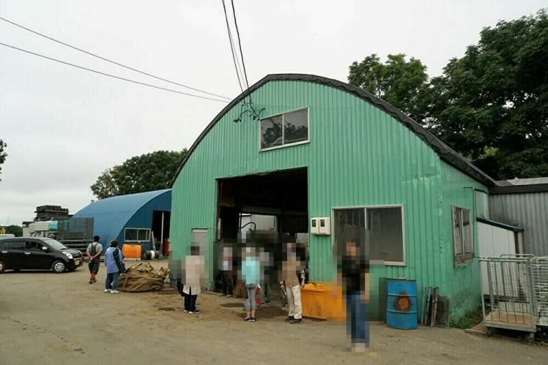 須藤農園の倉庫で交流会