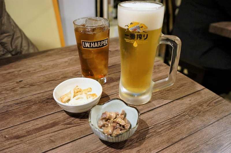 鶏右衛門のビール
