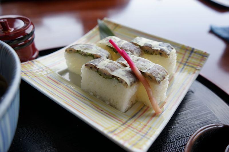 小樽貴賓館のしゃこの棒寿司