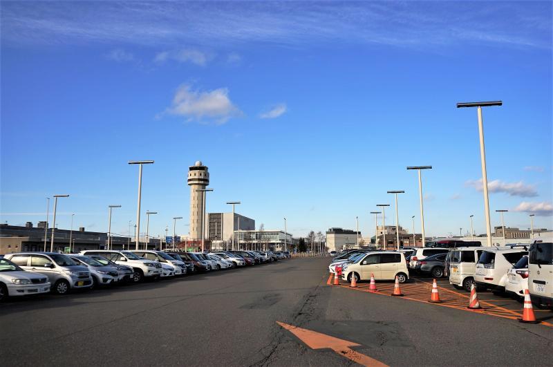 新千歳空港C駐車場の全景