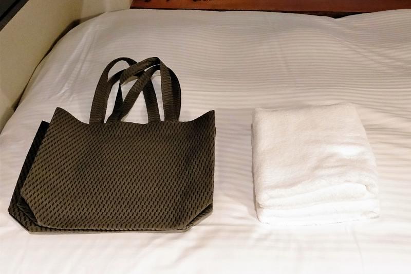 BUNSHODO HOTELのタオル