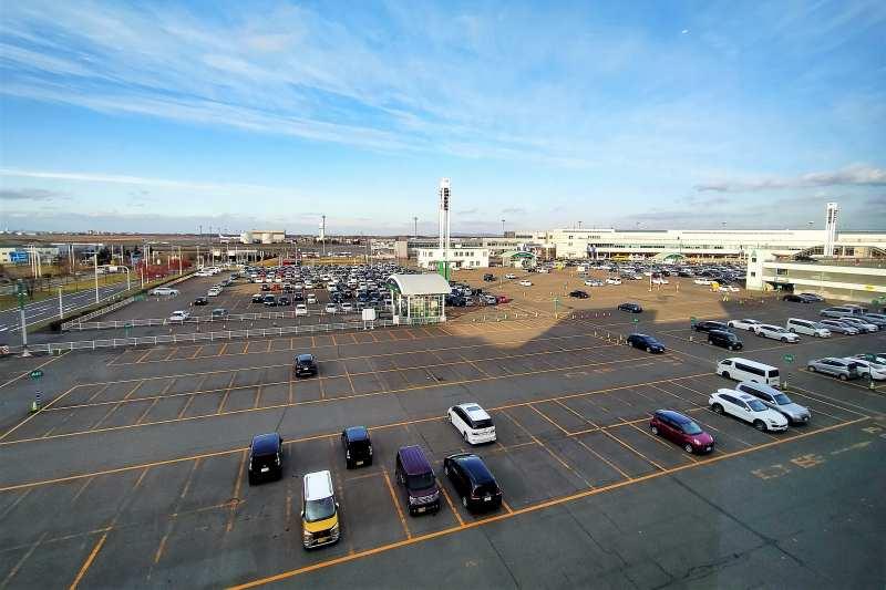 新千歳空港A駐車場の全景