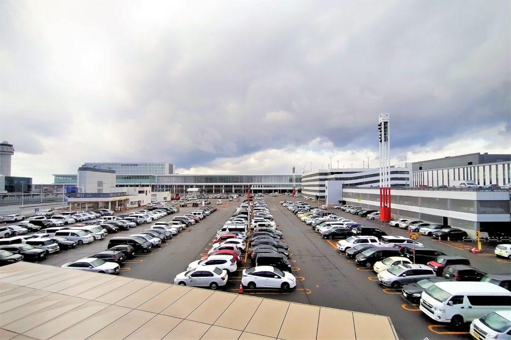 新千歳空港B駐車場の全景