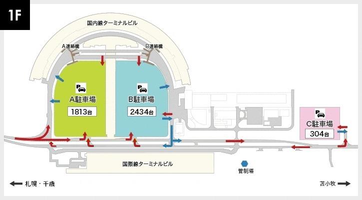 新千歳空港駐車場配置図